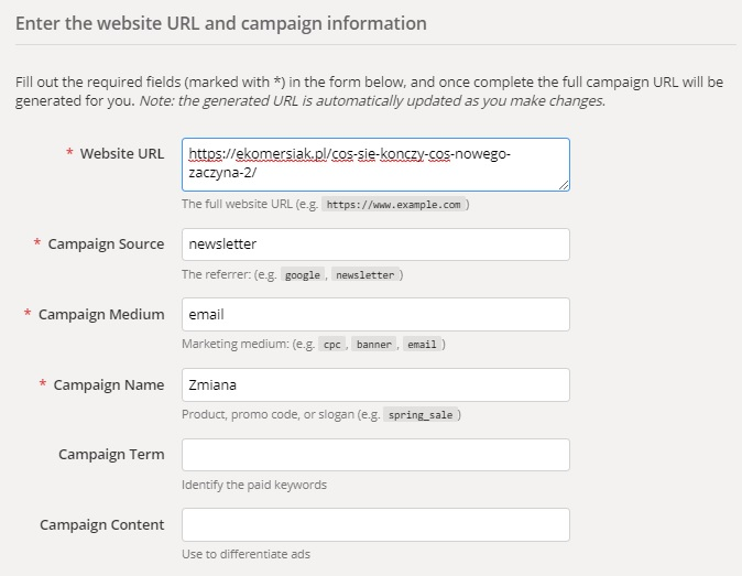 Campaign URL Builder