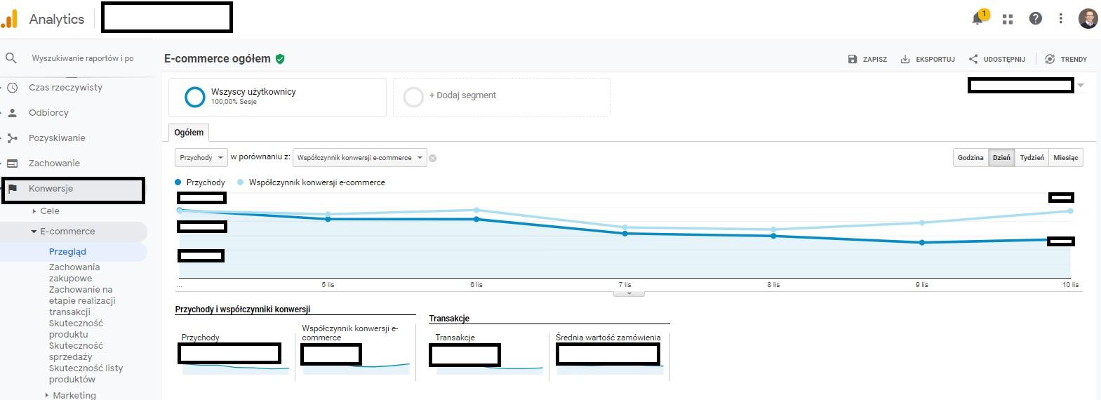 Jak sprawdzić czy moduł e-commerce w Google Analitycs działa?