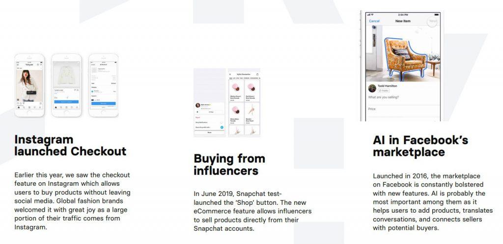 Rozwiązania social commerce wykorzystywane przez Instagram, FaceBook czy Pintrest